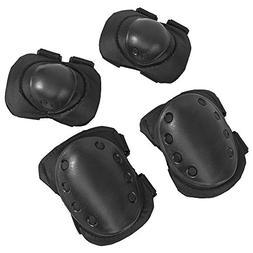 1 Set Black New Outdoor Tactical Military Outdoor Sport Knee