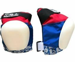 187 Killer Pads - Pro Knee Skateboard Pads - Red White & Blu
