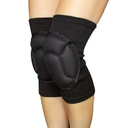 2x black eva sponge knee pads thick