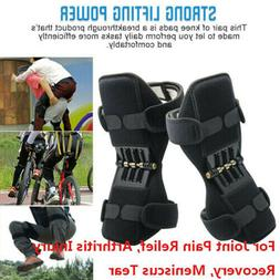 1Pair Power Joint Support Knee Pads Powerful Rebound Spring