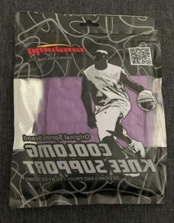 COOLOMG 1PC Knee Pads Leg Sleeve Basketball Soccer Purple  S