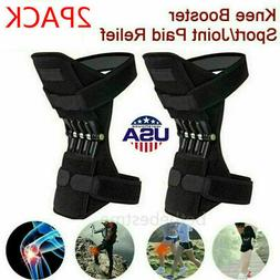 Pair Knee Support Brace Pads Booster Joint Lift Squat Sport