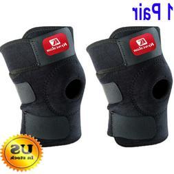 2 Pcs Adjustable Support Brace Knee Pads Patella Elastic Out