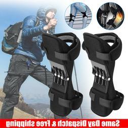 2 Pcs Joint Support Brace Knee Pads Booster Lift Squat Sport