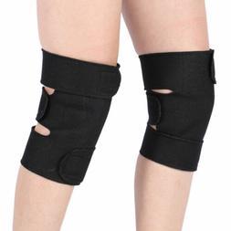 2 Pcs Magnetic Self-Heating Knee Pads Support Brace Tourmali