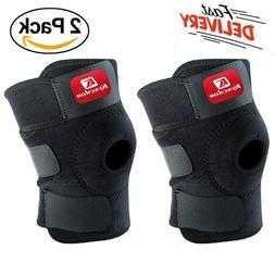 2 Pcs Support Brace Knee Pads Booster Squat Sports Adjustabl