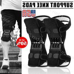 2pc Joint Support Knee Pads Non-slip Power Lift Rebound Spri