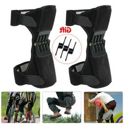 2Pcs Adults Joint Support Knee Pads Spring Force Non-slip Po