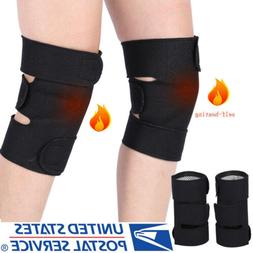 2pcs Magnetic Self-Heating Knee Pads Support Brace Tourmalin