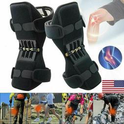2Pcs Support Brace Knee Pads Booster Lift Squat Sport Power