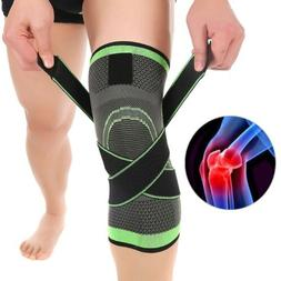 3D Weaving Sport Compression Knee Pad Support Brace Injury P
