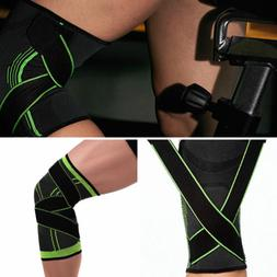 57e5e8c9a5 3D Weaving Knee Brace Pad Support Protect Gear Compression K