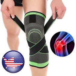 3D Weaving Sport Pressurization Knee Pad Support Brace Injur
