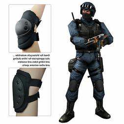 4 Knee Elbow Protective Pad Protector Gear Sports Tactical A