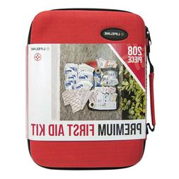 Lifeline 4038 Red Premium Hard Shell First Aid Kit - 208 Pie