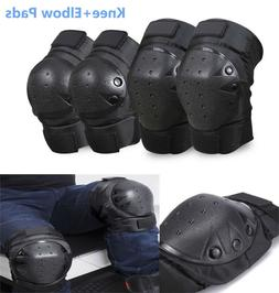4pcs Elbow Knee Pads set BMX MTB Bike Motorcycle Skateboard