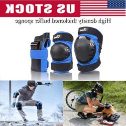 6 Pcs Adult Roller Skating Protective Gear Set Knee Pads Elb
