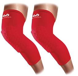 McDavid 6446 Hex Padded Compression Leg Sleeve  Scarlet X-La