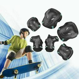 6pc Protective Gear Set for Roller Skating Skateboard Knee E