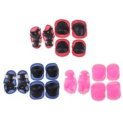 6pc/set Elbow <font><b>Pads</b></font> Bicycle <font><b>Skat