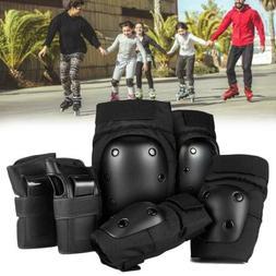 6Pcs Adult Roller Skating Protective Gear Set Knee Pads Elbo