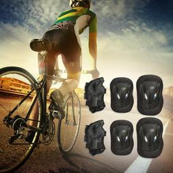 6pcs BMX Skating Protective Gear Sets Elbow Knee Pads Bike S