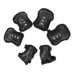 6Pcs Kid Roller Ski Cycling Protective Gear Pad KNEE/ELBOW/W