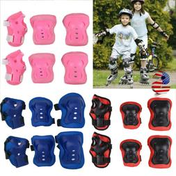6pcs Kids Skating Roller Skateboard Cycling Protector Pads G