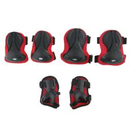 6Pcs Knee Pad Wrist Elbow Pad for Adult Roller Inline Skatin