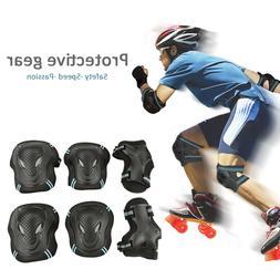 6PCS Roller Skating Skateboard Knee Elbow Wrist Protective G