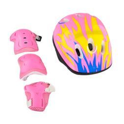 7pcs Children Kids Elbow Wrist Knee Pads Helmet Sport Safety