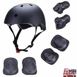 7Pcs Skateboard Helmet Wrist/Elbow/Knee/Pad Combo Bmx Inline