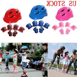 7pcs skating protective gear sets elbow knee