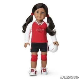 AMERICAN GIRL RED VOLLEYBALL SET~OUTFIT~JERSEY~SHORTS~SHOES~