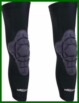 COOLOMG Knee Pads 2 Packs Kids Adult Compression Long Sleeve