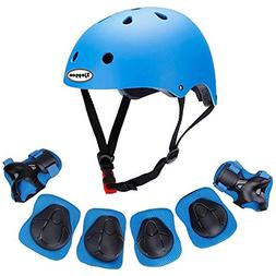 Kids Outdoor Sport Protective Gear Set with Helmet Knee Elbo