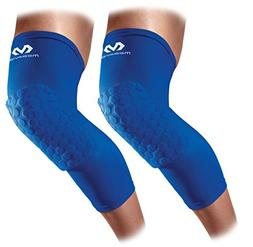 Mcdavid 6446 Hex Knee Pads Compression Leg Sleeves Pair, Roy