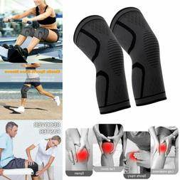 A Pair Knee Pad Leg Sleeve Compression Brace Support Protect