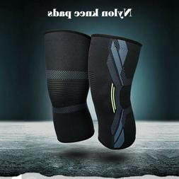 a pair sport sleeve knee support brace