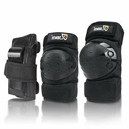 Adult Knee Pads Elbow Pads Wrist Guards 3 in 1 Protective Ge