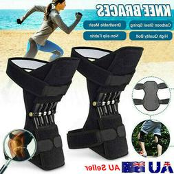 Adults Joint Support Knee Pads Spring Force Non-slip Power L