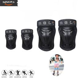 Adults Knee and Elbow Pads with Wrist Guards Protective Gear