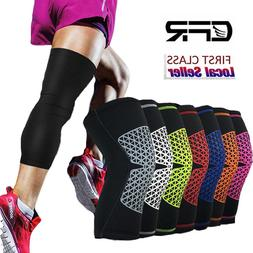 Basketball Knee Support Extended Compression Leg Sleeves Kne