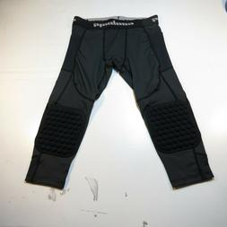 COOLOMG Basketball Pants Knee Pads Padded 3/4 Capri Compress