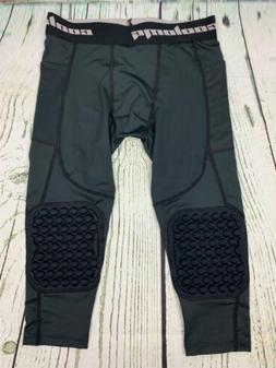 Big Kids 3/4 Length Compression Tight with Knee Pads Medium