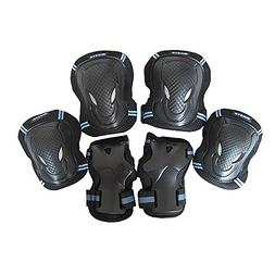 SKL Kids Knee Pads Elbow Pads Wrist Guards 3 in 1 Protective