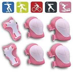 BMX Bike Knee Pads and Elbow Pads w/ Wrist Guards 6PCS Kids