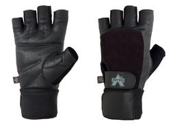 competition wrist wrap lifting gloves
