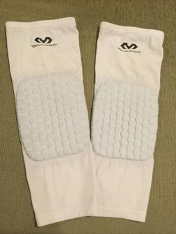 compression knee pads sz xl unisex white