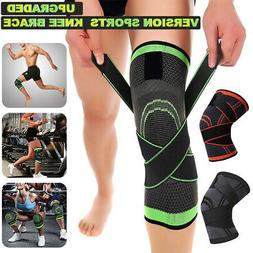 Compression Knee Sleeve Support Brace Protector for Sports G